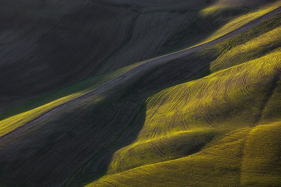 Abstract landscape in Tuscany