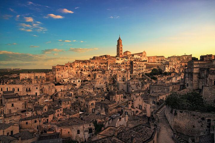 Warm Sunset over Matera