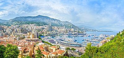 Monaco panoramic cityscape