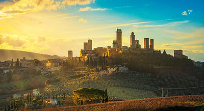 San Gimignano Skyline at Sunset