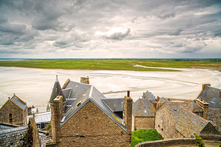 Mont Saint Michel monastery and bay