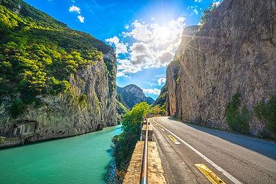 Gola del Furlo, road, river and gorge
