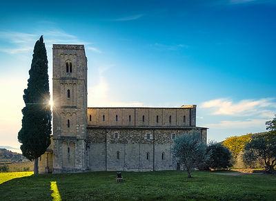 Sant'Antimo Abbey in the Morning