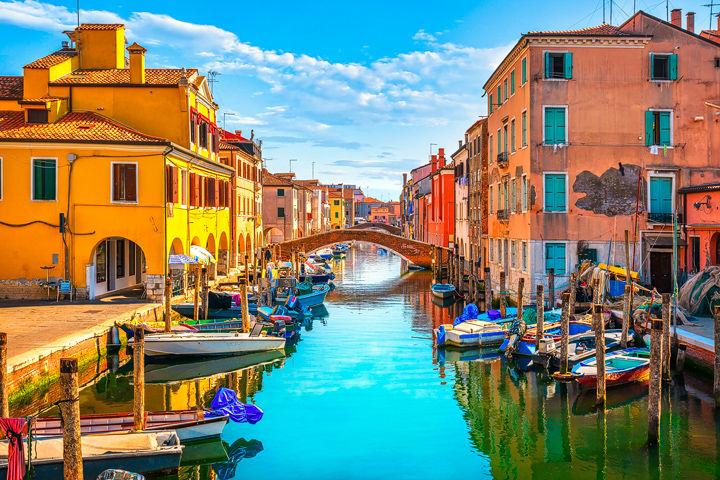 Chioggia Canal in Venetian Lagoon