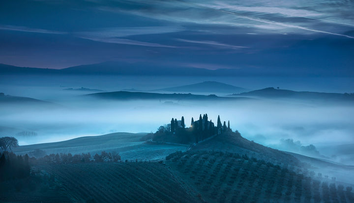 Blue Morning in Val d'Orcia