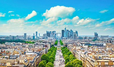 La Defense Panoramic View. Paris