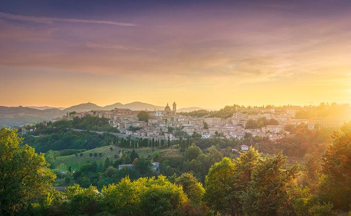 Last Ray of Sunshine on Urbino City