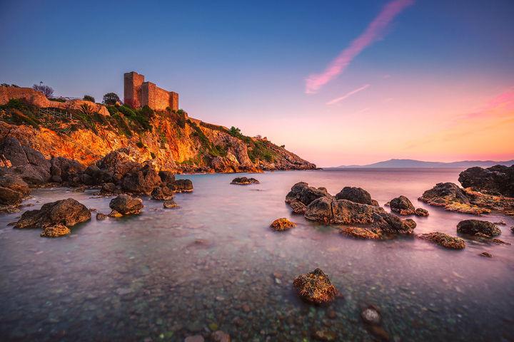 Rocca di Talamone at Sunset