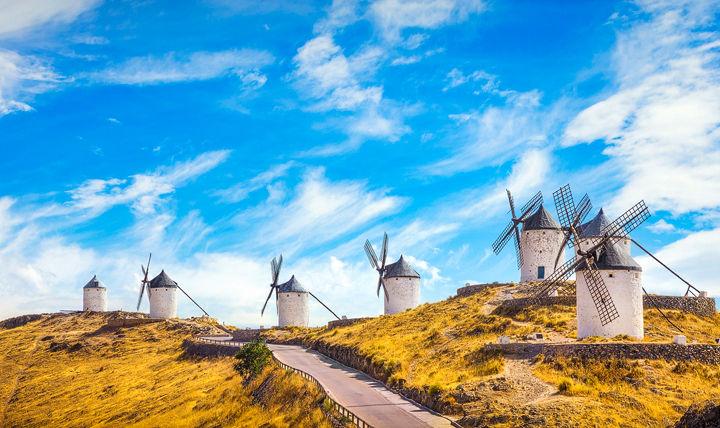Windmills of Consuegra. Spain