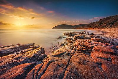 Sunset in Cala Violina Beach