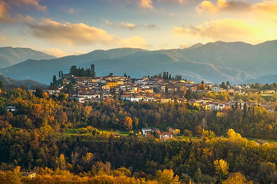 Barga village in autumn