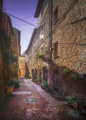 Pienza old town street
