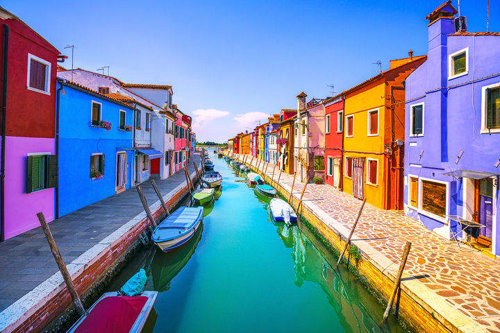 Burano Curved Canal