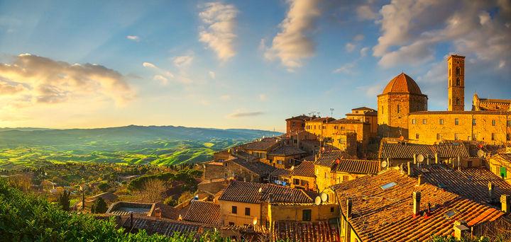 Volterra old town skyline