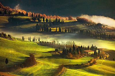 Tuscany Foggy Morning