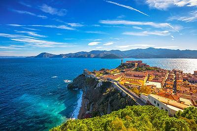 Portoferraio aerial view. Elba island
