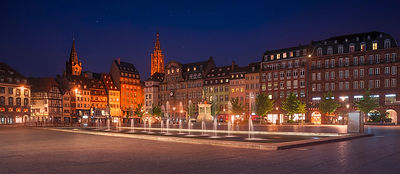Strasbourg, evening in Place Kleber