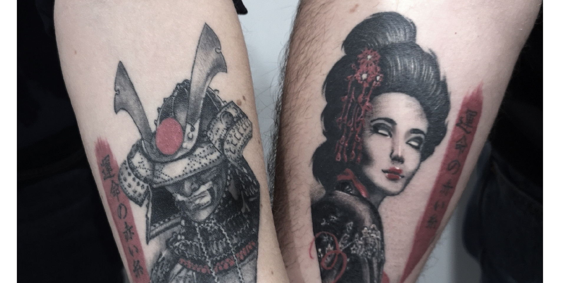 Tatouage Samourai et portrait femme asiatique