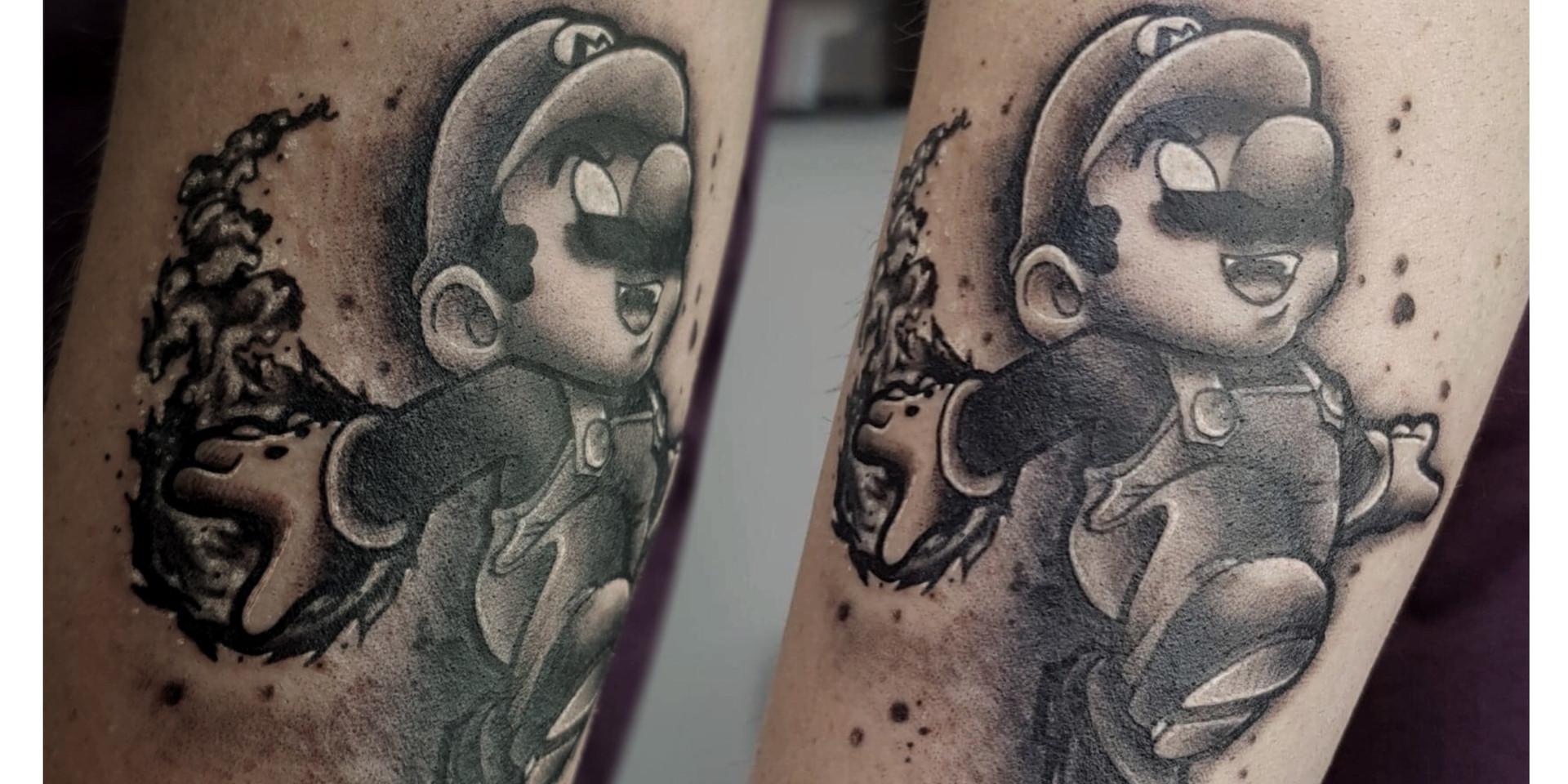 Tatouage Super Mario