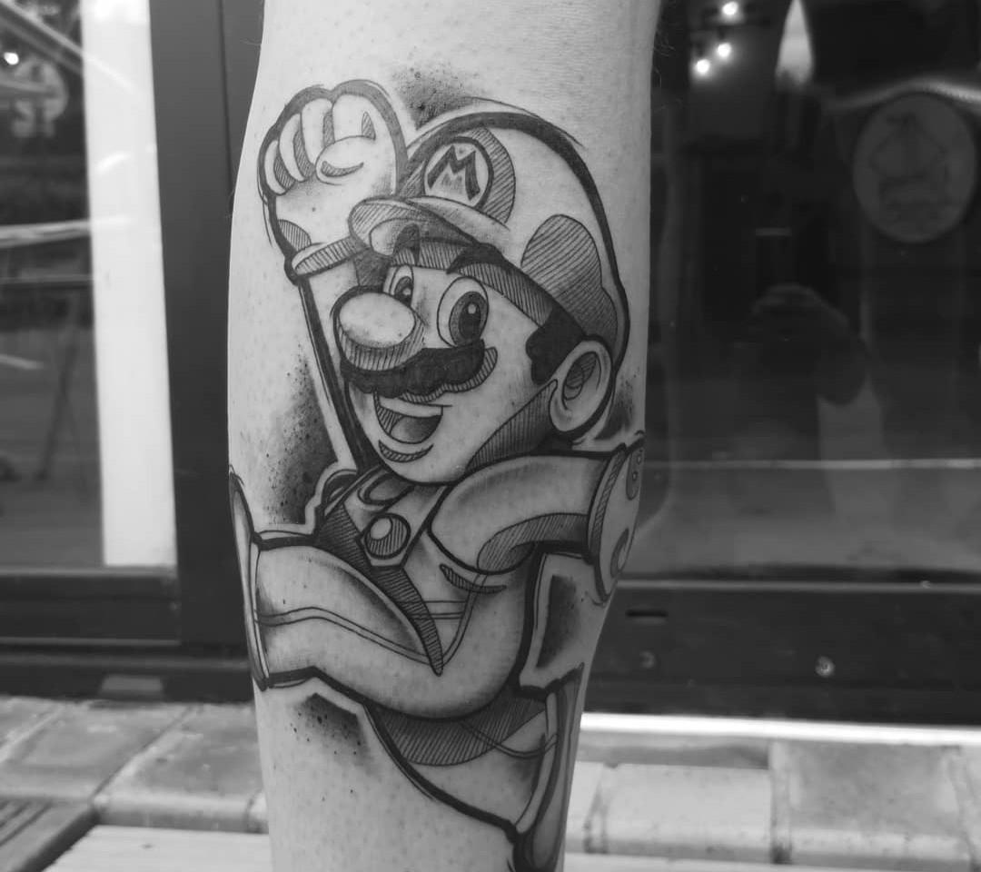 Tatouage Mario