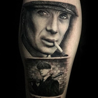 « Peaky Blinders »_Artist _ Thomas Wean Sforacchi__#black #blackandgrey #blackandwhite #tatouage #tattoo #tatoueur #tattoodo #tattooshop #fr
