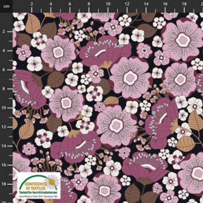 Purple Floral Knit