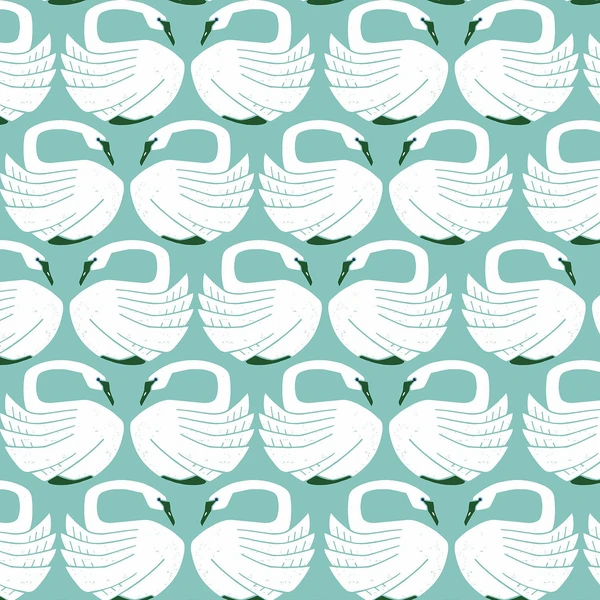 Cotton and Steel Swans