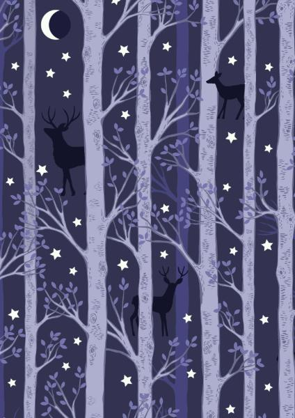 Nighttime in Bluebell Woods