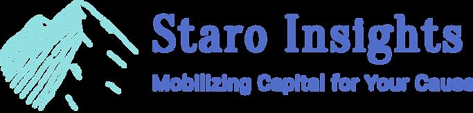 Staro Insights logo with mountain face shaped like a heart