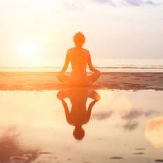 meditation at the sea