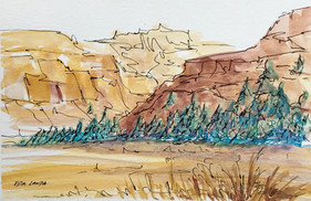 The Golds and Browns of Winter, watercolor and ink, 9x6, $50 SOLD