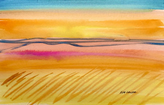 Bright start to the day!, watercolor, 9x6, $40 SOLD