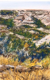 Badlands View, pastel, watercolor and ink, 6x9, $75 SOLD