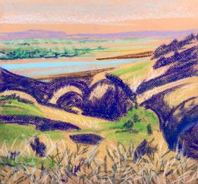 Yellowstone view #7, pastel, 12x11, $120