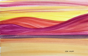 The Warm Colors of a Sunset, watercolor, 9x6, $40 SOLD