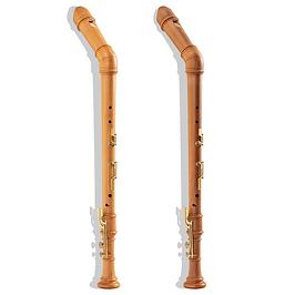 Bassblockflöten Küng SUperio Birne und K