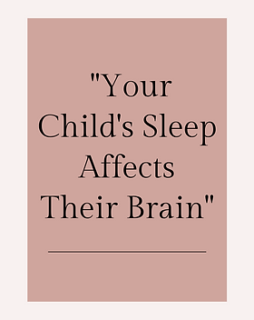 child's sleep affects their brain graphi