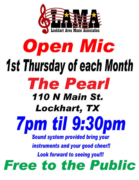 Open Mic Poster 1st Thursday 2019-08-12