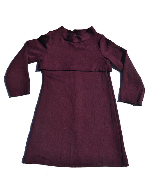 Maroon 2-Piece Dress