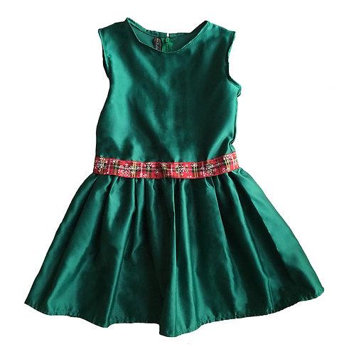 Green Snowflake Kayla Dress