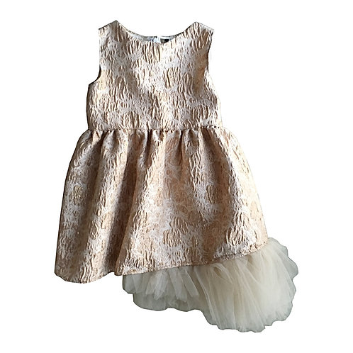 Metallic Floral Tulle Dress