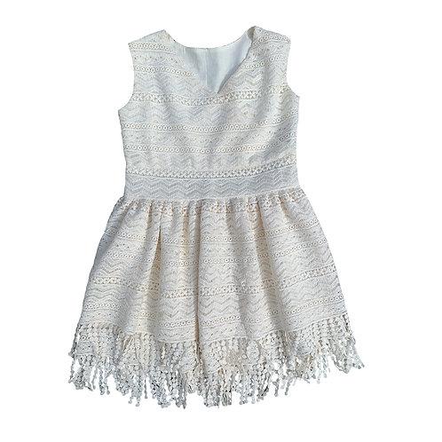 Lace Fringe Valeria Dress