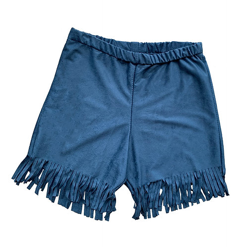 Blue Fringe Harley Shorts