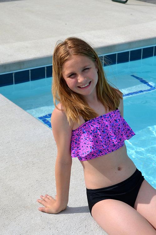 Pink Flounce Swim Set