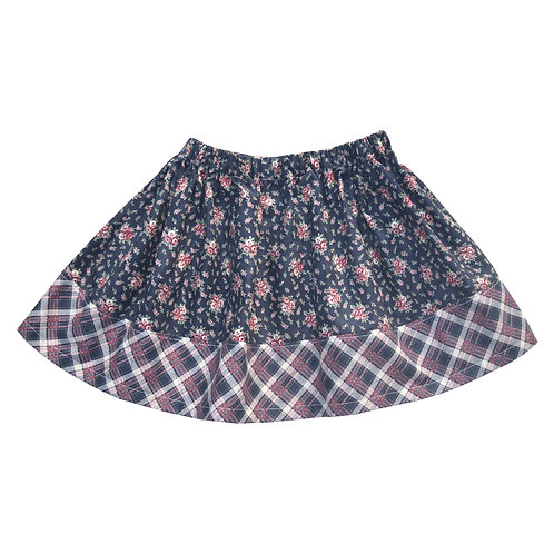 Plaid Floral Ana Skirt
