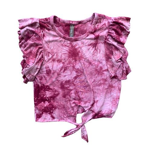 Red Tie Dye Ellie Top