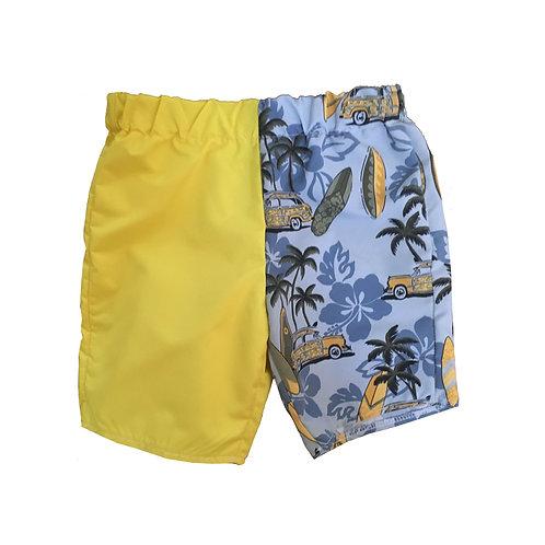 Color Blocked Shorts