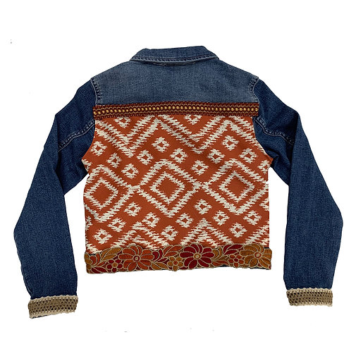 Nadia Print Denim Jacket