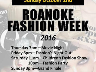 Roanoke Fashion Week!