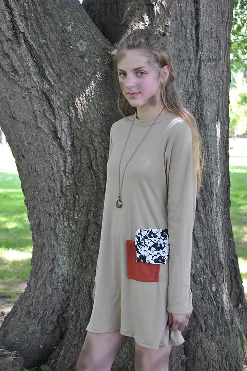Double Patch Pocket Dress